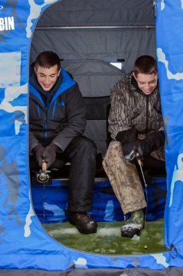 Inaugural ice fishing trip of 2013 winter in Bay County